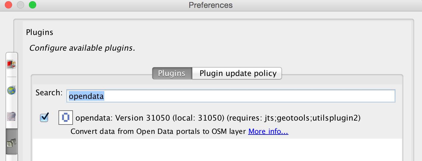 JOSM OpenData Plugin